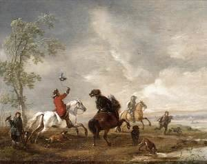 Philips Wouwerman - A Hawking Party c. 1651