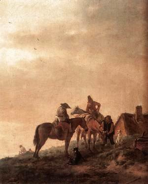 Philips Wouwerman - Rider's Rest Place