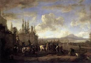 Philips Wouwerman - Setting out on the Hunt 1660-65