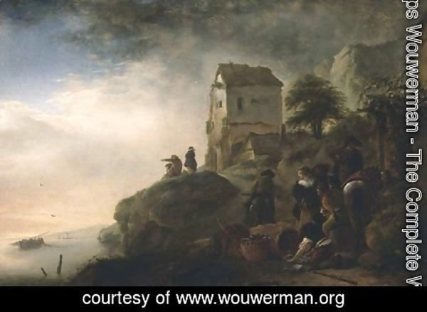 Philips Wouwerman - Fishermen with their Catch
