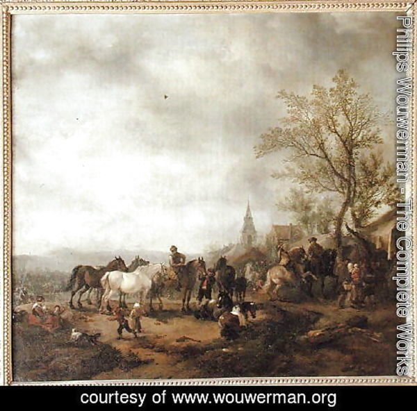 Philips Wouwerman - A Horse Fair