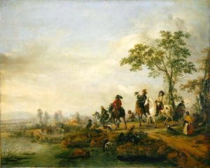 Philips Wouwerman - Falconers Return Home from the Hunt, 1658-60