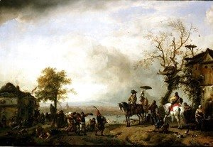 Landscape with Kermis (The Rustic Wedding) c.1653-59