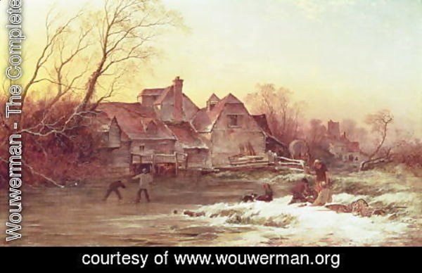 Philips Wouwerman - Winter Scene