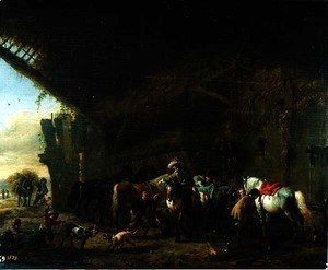 Philips Wouwerman - In Front of the Inn