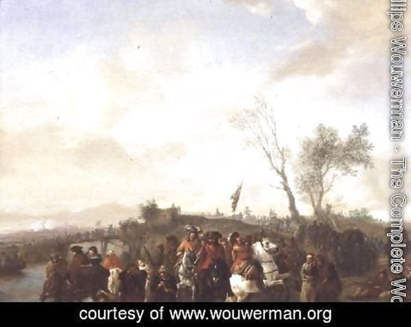 Philips Wouwerman - An Army on the March 2
