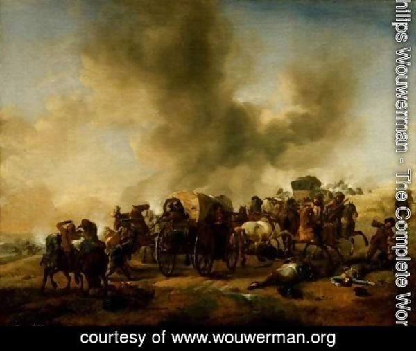 Philips Wouwerman - The Ambush