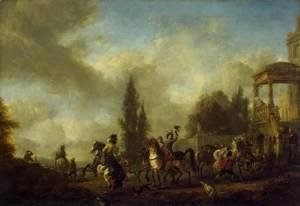 Philips Wouwerman - Huntsmen Setting Out