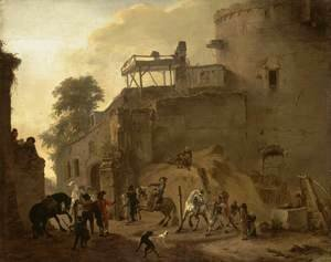 Philips Wouwerman - Manege Riding in the Open Air
