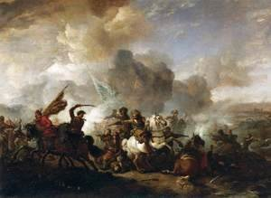 Philips Wouwerman - Skirmish of Horsemen between Orientals and Imperials