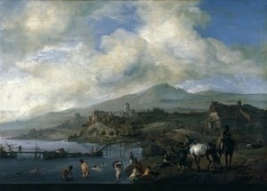 Landscape with Bathers c 1660