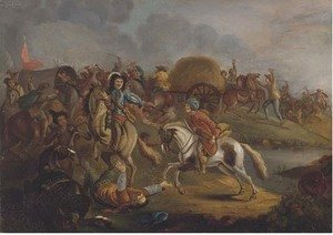 Philips Wouwerman - The skirmish