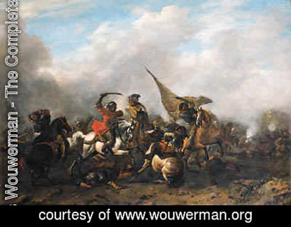 Philips Wouwerman - A cavalry skirmish