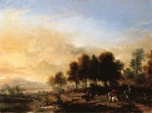 Philips Wouwerman - A stag hunt