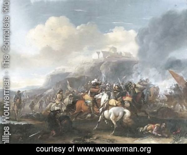 Philips Wouwerman - A cavalry skirmish 2