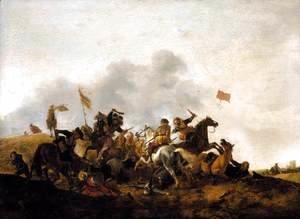 Philips Wouwerman - Cavalry Skirmish
