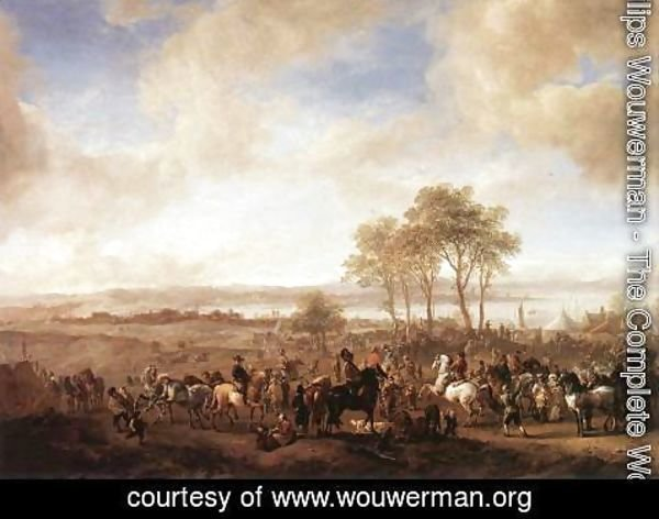 Philips Wouwerman - The Horse Fair