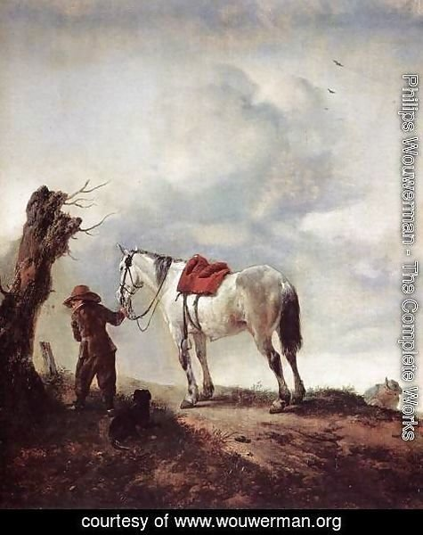 Philips Wouwerman - The White Horse