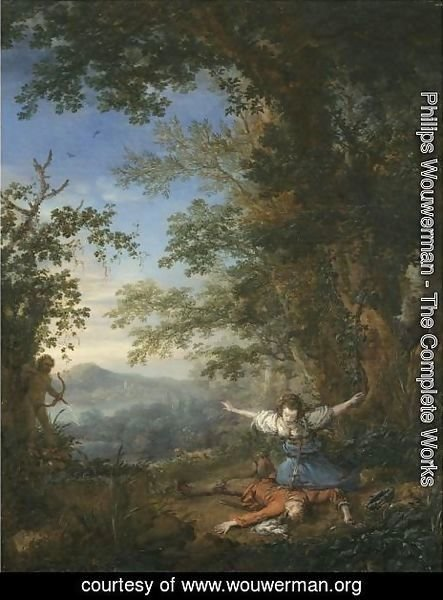 Pyramus And Thisbe In A Bosky Landscape