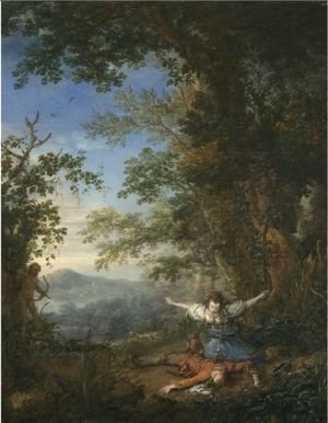 Philips Wouwerman - Pyramus And Thisbe In A Bosky Landscape