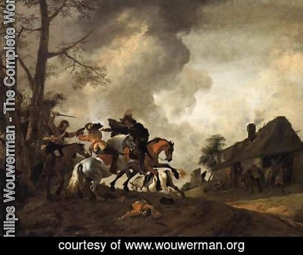 Philips Wouwerman - Battle on Horseback